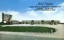 MTL001777 - Motel Parakeet, Springfield, MO, USA Motel Hotel Postcard Post Card Old Vintage Antique