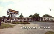 MTL001786 - Clewiston Motel, Clewiston, FL, USA Motel Hotel Postcard Post Card Old Vintage Antique