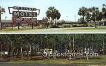 MTL001790 - Westgate Motel & Campground, Perry, FL, USA Motel Hotel Postcard Post Card Old Vintage Antique