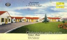 MTL001795 - Eddy's Motel, Butte, MT, USA Motel Hotel Postcard Post Card Old Vintage Antique
