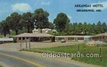MTL001799 - Arkansas Motel, Arkadelphia, AR, USA Motel Hotel Postcard Post Card Old Vintage Antique