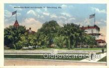 MTL001807 - Manhattan Hotel & Grounds, St. Petersburg, FL, USA Motel Hotel Postcard Post Card Old Vintage Antique