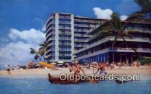 MTL001813 - Reef Hotel, Waikiki, Hawaii, USA Motel Hotel Postcard Post Card Old Vintage Antique