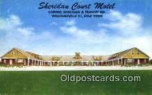 MTL001820 - Sheridan Court Motel, Williamsville, NY, USA Motel Hotel Postcard Post Card Old Vintage Antique