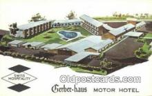 MTL001841 - Gerber Haus Motor Hotel, Fort Wayne, IN, USA Motel Hotel Postcard Post Card Old Vintage Antique