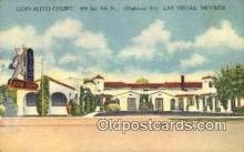 MTL001850 - Lido Auto Court, Las Vegas, NV, USA Motel Hotel Postcard Post Card Old Vintage Antique