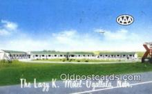 MTL001867 - Lazy K. Motel, Ogallala, NE, USA Motel Hotel Postcard Post Card Old Vintage Antique