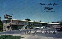 MTL001868 - Salt Lake City Travelodge, Salt Lake, USA Motel Hotel Postcard Post Card Old Vintage Antique