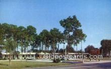 MTL001870 - Town Hall Court, Sarasota, FL, USA Motel Hotel Postcard Post Card Old Vintage Antique