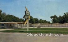 MTL001876 - Sunset Lodge Motel, Sterling, KS, USA Motel Hotel Postcard Post Card Old Vintage Antique