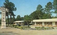MTL001877 - Pines Motel, Valdosta, GA, USA Motel Hotel Postcard Post Card Old Vintage Antique