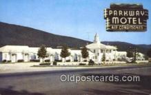 MTL001895 - Parkway Motel Restaurant, Roanoke, VA, USA Motel Hotel Postcard Post Card Old Vintage Antique