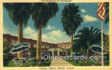 MTL001898 - Hotel Indio, Indio, CA, USA Motel Hotel Postcard Post Card Old Vintage Antique