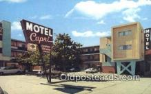 MTL001905 - Motel Capri, San Francisco, CA, USA Motel Hotel Postcard Post Card Old Vintage Antique
