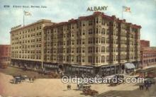 MTL001910 - Albany Hotel, Denver, CO, USA Motel Hotel Postcard Post Card Old Vintage Antique
