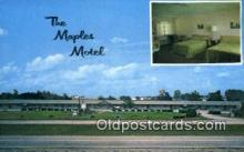 MTL001935 - The Maples Motel, Richmond, IN, USA Motel Hotel Postcard Post Card Old Vintage Antique