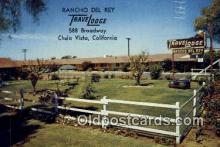 MTL001945 - Rancho Del Rey Travelodge, Chula Vista, CA, USA Motel Hotel Postcard Post Card Old Vintage Antique