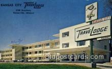 MTL001951 - Kansas City Travelodge, Kansas City, MO, USA Motel Hotel Postcard Post Card Old Vintage Antique