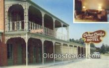 MTL011055 - Chateau Charles, Lake Charles, Louisiana, LA USA Hotel Postcard Motel Post Card Old Vintage Antique