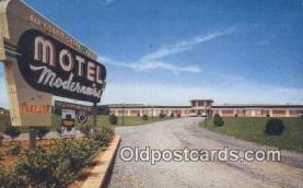 MTL011068 - Motel Modernaire, Winchester, Virginia, VA USA Hotel Postcard Motel Post Card Old Vintage Antique