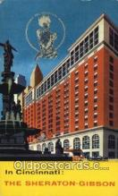 MTL011095 - Sheraton Gibson Hotel, Cincinnati, Ohio, OH USA Hotel Postcard Motel Post Card Old Vintage Antique