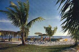 MTL011109 - Malibu Lodge Motel, Lower Matecumba Key, Florida, FL USA Hotel Postcard Motel Post Card Old Vintage Antique