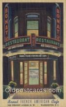 MTL011130 - Bonat French American Café, Washington DC. USA Hotel Postcard Motel Post Card Old Vintage Antique
