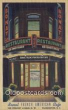 MTL011130 - Bonat French American Café, Washington DC. USA Hotel Postcard Motel Post Card Old Vintage Antique