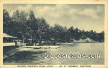 MTL011152 - Hollebs Crawling Stone Lodge, Lac Du Flambeau, Wisconsin, WI USA Hotel Postcard Motel Post Card Old Vintage Antique