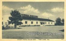 MTL011160 - Rollin Wheels Roller Rink, Twin Lakes, Wisconsin, WI USA Hotel Postcard Motel Post Card Old Vintage Antique