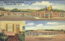 MTL011162 - United Motor Court, Rawlins, Wyoming, WY USA Hotel Postcard Motel Post Card Old Vintage Antique