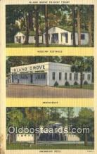 MTL011167 - Island Grove, Tourist Court, Jacksonville, Florida, FL USA Hotel Postcard Motel Post Card Old Vintage Antique