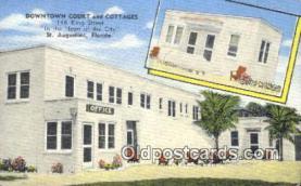 MTL011169 - Downtown Court and Cottages, St Augustine, Florida, FL USA Hotel Postcard Motel Post Card Old Vintage Antique