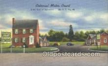 MTL011170 - Colonial Motor Lodge, Springfield, Massachusetts, MA USA Hotel Postcard Motel Post Card Old Vintage Antique
