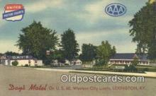 MTL011173 - Days Motel, Lexington, Kentucky, KY USA Hotel Postcard Motel Post Card Old Vintage Antique