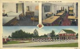 MTL011176 - Camellia Courts, Jesup, Georgia, GA USA Hotel Postcard Motel Post Card Old Vintage Antique