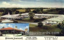 MTL011178 - Howard Johnsons, Motor Lodge, Fayetteville, North Carolina, NC USA Hotel Postcard Motel Post Card Old Vintage Antique