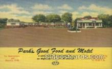 MTL011184 - Parks Good Food and Motel, Louisville, Kentucky, KY USA Hotel Postcard Motel Post Card Old Vintage Antique