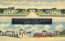MTL011187 - 1000 Tourist Court and Motel, Meridian, Mississippi, MS USA Hotel Postcard Motel Post Card Old Vintage Antique
