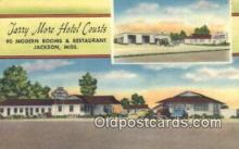 MTL011188 - Tarry More Hotel Courts, Jackson, Mississippi, MS USA Hotel Postcard Motel Post Card Old Vintage Antique