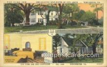 MTL011211 - The Elms Inn, Winchester, Virginia, VA USA Hotel Postcard Motel Post Card Old Vintage Antique