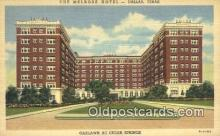 MTL011220 - The Melrose Hotel, Dallas, Texas, TX USA Hotel Postcard Motel Post Card Old Vintage Antique