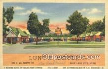 MTL011224 - Lunts Motel, Salt Lake City, Utah, UT USA Hotel Postcard Motel Post Card Old Vintage Antique