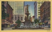 MTL011231 - Fountain Square, Cincinnati, Ohio, OH USA Hotel Postcard Motel Post Card Old Vintage Antique