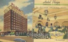 MTL011240 - Hotel Plaza, Laredo, Texas, TX USA Hotel Postcard Motel Post Card Old Vintage Antique