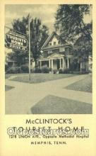 MTL011246 - Mclintocks Tourist Home, Memphis, Tennessee, TN USA Hotel Postcard Motel Post Card Old Vintage Antique
