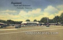 MTL011248 - Bogemans, Nashville, Tennessee, TN USA Hotel Postcard Motel Post Card Old Vintage Antique