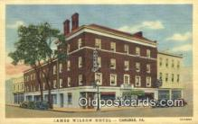 MTL011261 - James Wilson Hotel, Carlisle, Pennsylvania, PA USA Hotel Postcard Motel Post Card Old Vintage Antique
