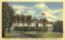 MTL011263 - Onawa Lodge, Mountainhome, Pennsylvania, PA USA Hotel Postcard Motel Post Card Old Vintage Antique