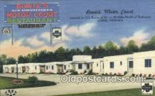 MTL011278 - Bowies Motor Court, Lorne, Virginia, VA USA Hotel Postcard Motel Post Card Old Vintage Antique